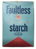 Vintage Faultless Blued Perfumed Starch Box Full Laundry