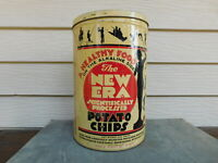 Vintage New Era Graphic Potato Chips 1LB Tin Canister Art Deco Can