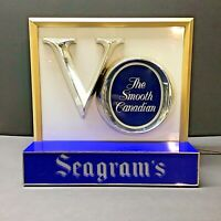 Vintage SEAGRAM'S VO Canadian Whisky Cash Register Topper Lighted Sign