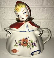 VINTAGE HULL LITTLE RED RIDING HOOD TEA POT Poppies EUC