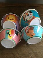 VINTAGE KELLOGGS CEREAL BOWLS SET OF 4 TONY THE TIGER TOUCAN SAM