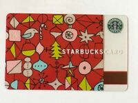 Starbucks Card 2002 Ornaments Christmas Holiday Old Logo NEW Rare Mint