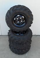 Complete Set of ATV Take-Off Stock Tires - 25x8x12 / 25x10x12 (Wheels Included)