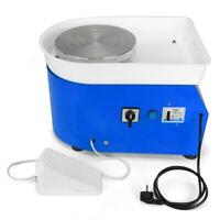 25CM 350W Electric Pottery Wheel Machine For Ceramic Work Clay Art Craft Blue