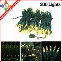 Christmas Tree String Lights Warm WHITE 68.6Ft 200 LED Use UL Listed For Outdoor