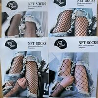1 Pair Solid Black Hollow Out Plain Pantyhose Mesh Fishnet High Stockings Tights $4.25