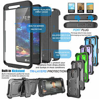 For LG K20 Plus K10 2017 Harmony Screen Protector Case Hard Cover Holster Clip $9.99
