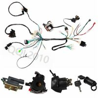 CDI Wire Wiring Harness Assembly Kit ATV Electric Start QUAD Buggy 110cc 125cc