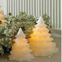 Primitive Country 5 quot; 7.5quot; White LED Christmas Tree Candle Holiday 2 Sizes
