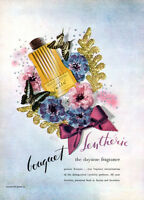 Bouquet Lentheric Tweed Perfume DAYTIME FRAGRANCE Parfum 1947 Magazine Print Ad