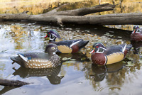 Set of 6 Duck Decoys Durable Flambeau Wood Outdoor Hunting Baits Traps Lure Gift