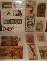 RARE Antique Lot Christmas VICTORIAN TRADE CARDS Seals, Tags, Greeting Cards Etc