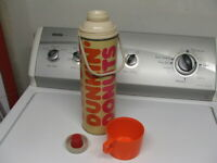 Vintage DUNKIN' DONUTS Metal Coffee Thermos King-Seeley