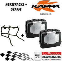 Honda XL 1000 V Varadero 2001 2002 Set 2 Suitcases Side Kappa KGR33 + Brackets