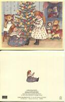1 CHRISTMAS CHILDREN TREE CANDLES GINGERBREAD CLARINET SANTA TOYS GREETING CARD