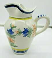Henriot Quimper France 90 Pitcher with Woman 6 1/2