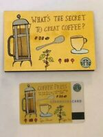 Starbucks Card 2003 Coffee Press with sleeve Old Logo RARE New