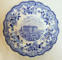 Staffordshire Blue/White Transferware Plate--The Presidents House--Circa 1830s