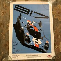 Porsche Autographed 917 Gulf Limited Edition Poster 1 Of 917 Experience Center