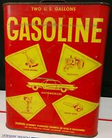 Rare Decoware Vintage Metal 2 Gallon Red Gas Can 1950s