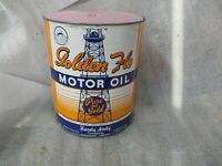 Early Original Golden Flo Motor Oil Imperial Gallon Metal Can