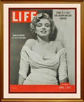 Marilyn Monroe Life Magazine Original Advertising Poster, 1952