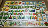 128 GENUINE ALL DIFFERENT VINTAGE SEED PACKETS LOT NOS C1920-1960 GENERAL STORE
