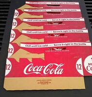 (5) NOS 1950's Coca-Cola Coke 12 Pack Cardboard Bottle Carton Carriers - Rare