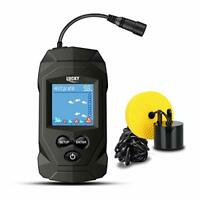 LUCKY Fish Finder Wired Black Portable Fishing Sonar Cool Shape for Ice Kayak