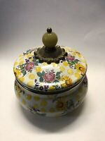 mackenzie childs Buttercup Enamelware Squashed Pot