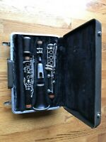 Normandy clarinet with case, mouthpiece. Good mechanical cond. Needs new pads.
