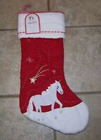 Pottery Barn Kids UNICORN Christmas quilted Stocking NEW nwt 22