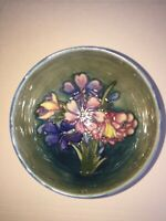 Moorcroft Spring Flowers Cobalt Blue Bowl Older Markings