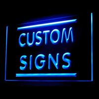 Personalized Custom made Your Text Name For Display Decoration Led Sign