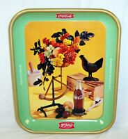 1957 COCA COLA FRENCH CANADIAN ROOSTER TRAY