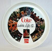 NEW 1970's COCA COLA PLASTIC ROUND TRAY  COKE