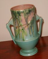 """Roseville Moss green vase 774-6.  6 ¼"""" tall, 2 ¾"""" in diameter in perfect conditi"""