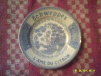 Beautiful Schweppes L'Ame Du Citron Tips Plate Sarreguemines France Display Only