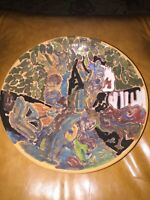 Shearwater Pottery Bowl Potter Decorated by Patricia Eve in the Garden of Eden
