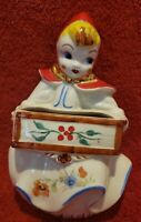 Vintage Hull Pottery Little Red Riding Hood Wall Pocket 9