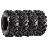 VANACC Set of 4 New Premium ATV UTV Tires 25x8-12 Front & 25x10-12 Rear AT Mud T