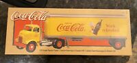 1998 Ertl Coca Cola GMC Tractor Trailer 1/25 Diecast Semi Truck In Box H852