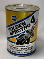 GOLDEN SPECTRO 4 ONE QUART MOTORCYCLE OIL CAN BANK