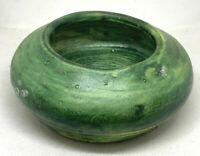 Vintage Signed and Dated Green Art Pottery Bowl from the Adirondacks, 1973