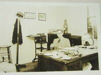 1930s Photograph of Man's Office with a Coke / Coca Cola Bottle Radio