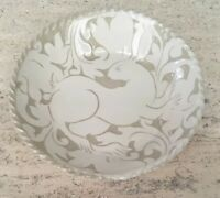 Vintage Miranda Thomas Pottery Platter Incised Decoration of Bunny Rabbit