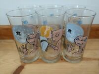 Set 6 Vintage 1982 ET Extra Terrestrial Collectors Glasses Pizza Hut