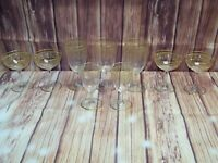 Lot Of 9 Mixed Size Baccarat Glasses With Gold Trim AS IS