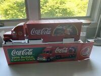 1998 Holiday Caravan Truck. (CocaCola) Vintage Light-up Toy Truck.