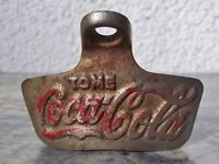 VINTAGE COCA-COLA STAR X WALL MOUNT BOTTLE OPENER SUPER RARE TOME DRINK SPANISH